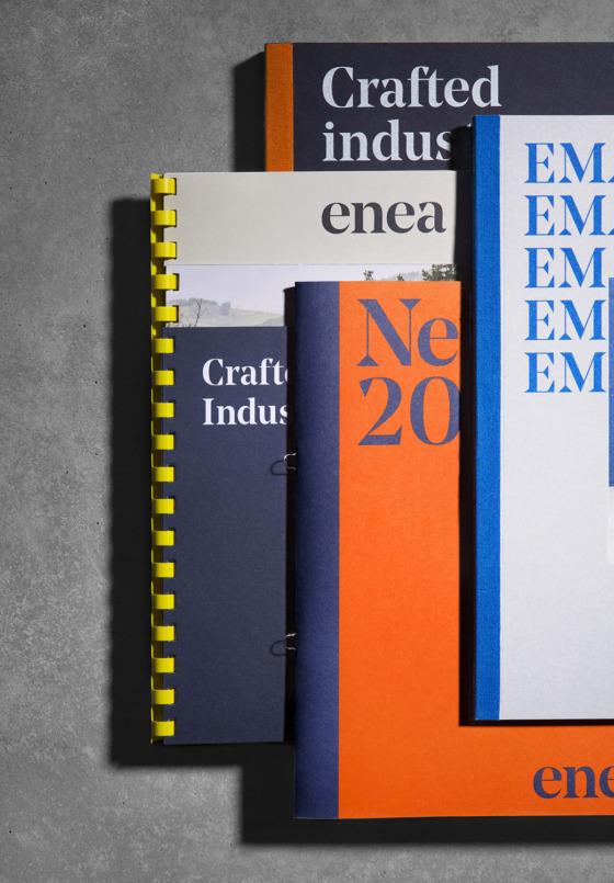 identidad corporativa y editorial enea clase bcn – Clase bcn