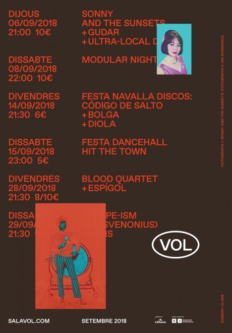 identity graphic design sala VOL clase barcelona – Clase bcn