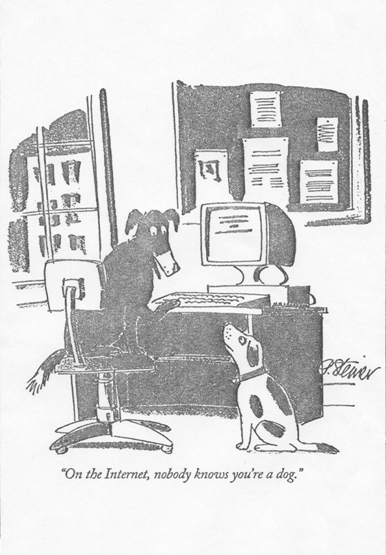 On the Internet, nobody knows you're a dog – Clase bcn