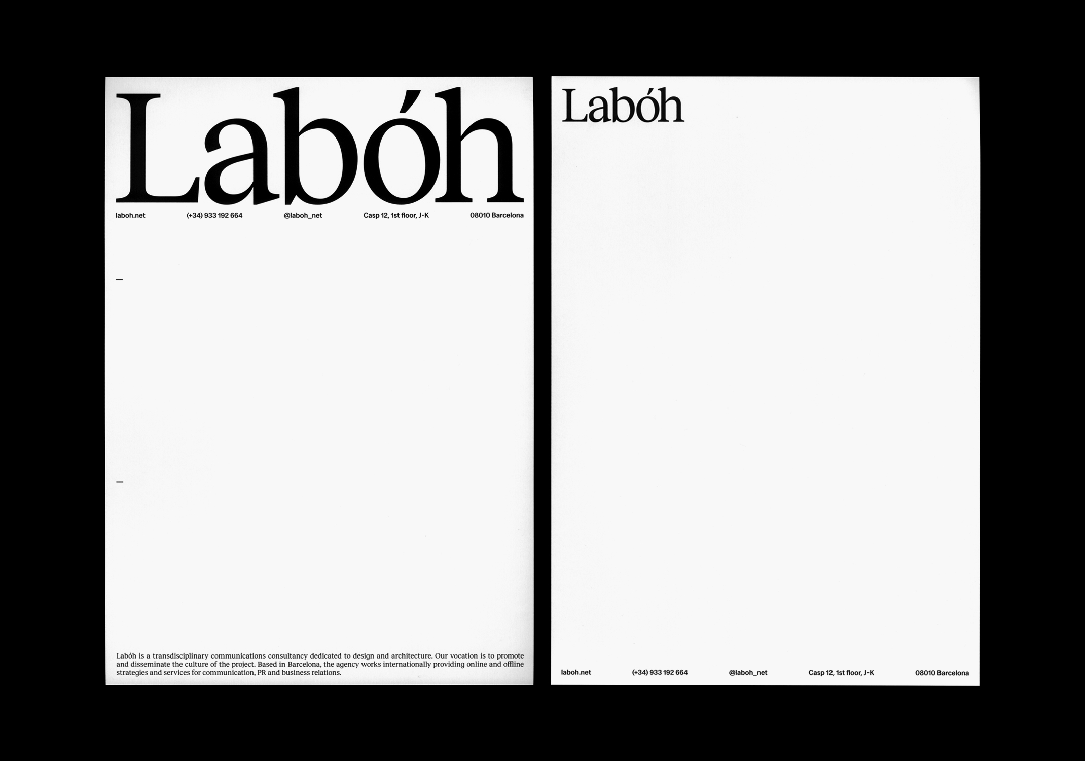branding graphic design laboh stationery clase bcn – Clase bcn