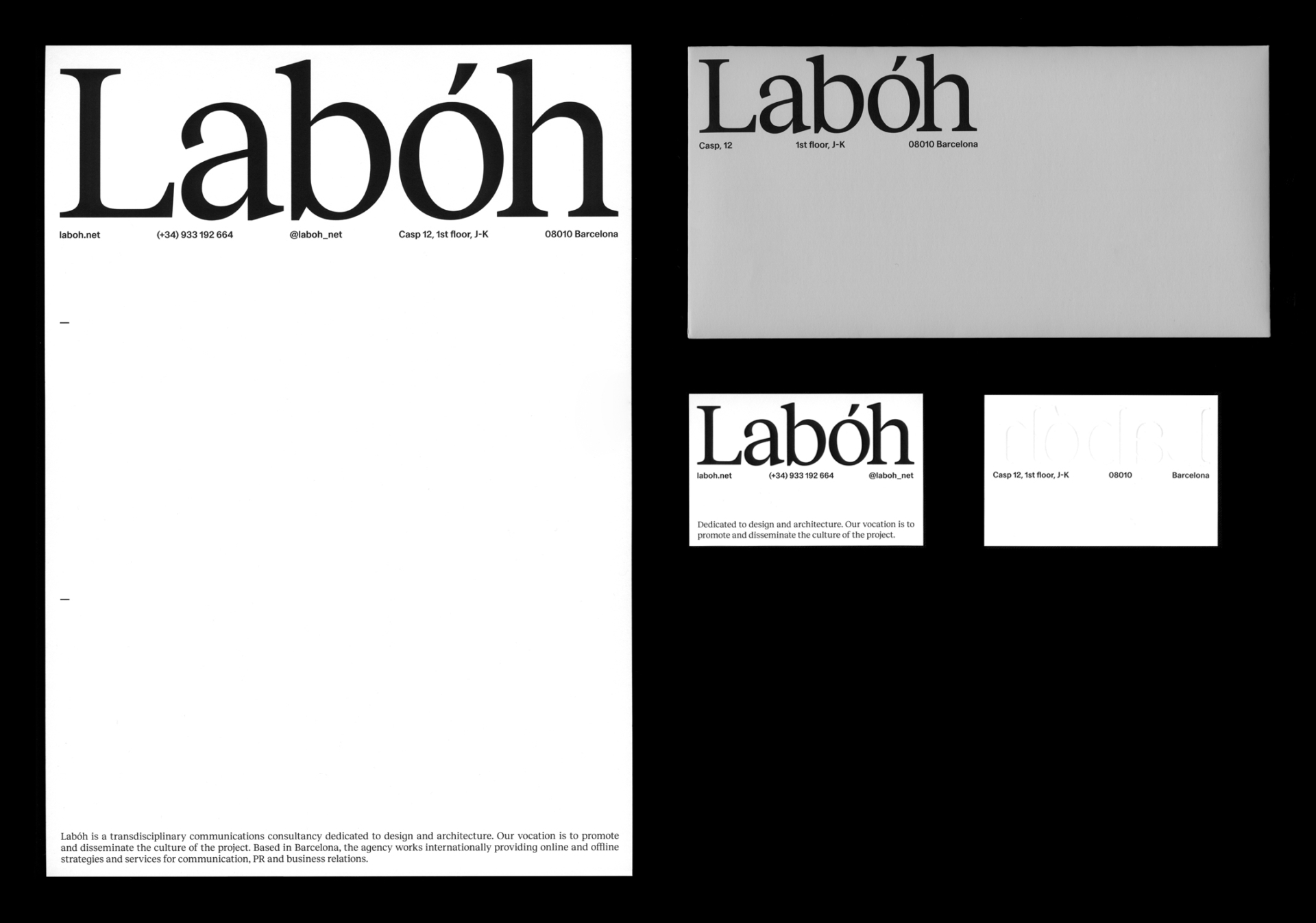 branding graphic design laboh stationery clase bcn – Clase bcn
