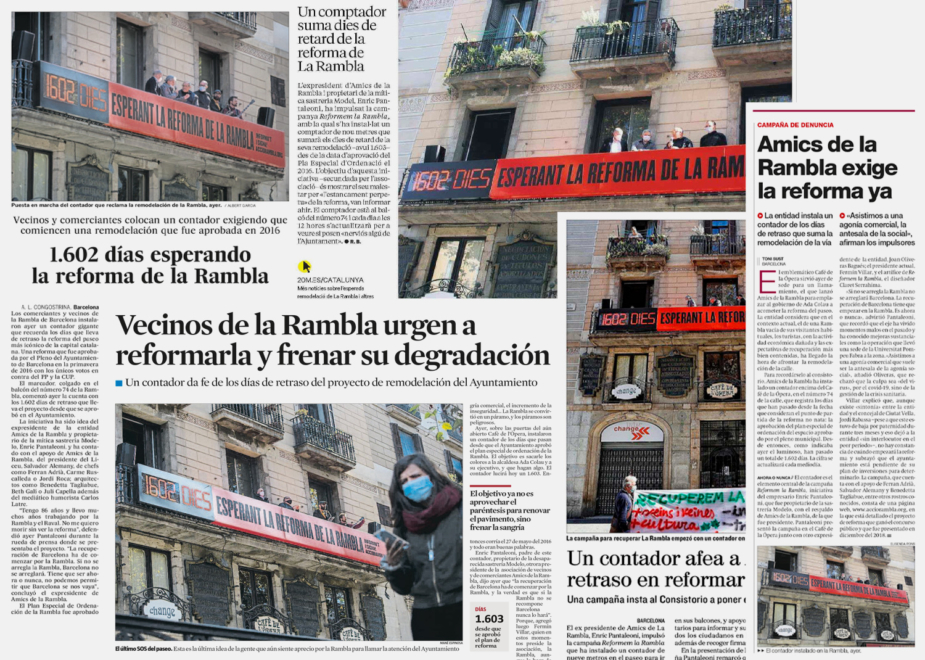 campaign graphic design communication accio reforma rambla clase bcn – Clase bcn